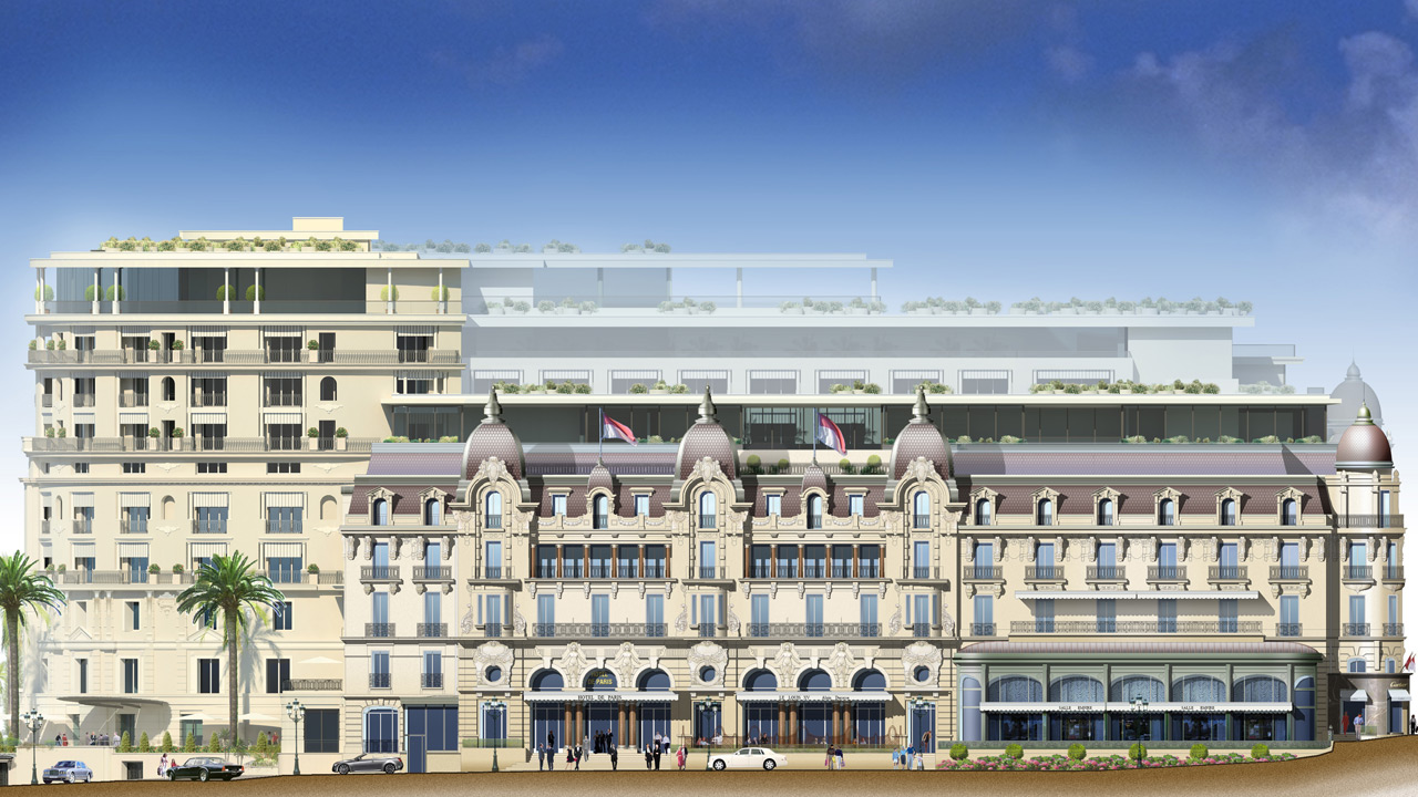 H tel de paris monaco architecture de palace affine for Paris hotel address
